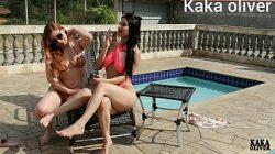 Emme White e Karen Oliver as lesbicas brasileiras fazendo sexo