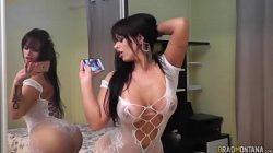 Angel Lima em filme pornô com homem e mulher